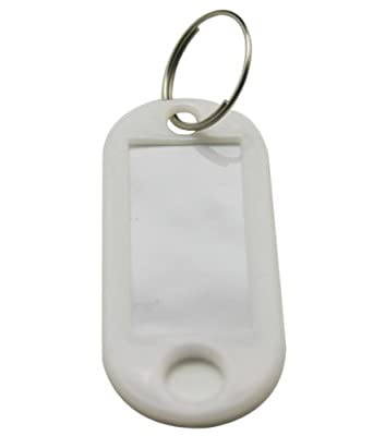 Chuzhao Wu White Hard Plastic Key Fobs Ring Luggage Id Tags Labels(pack of 20)