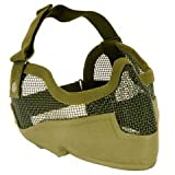 TMC Sport Gear Tactical Airsoft Metal Mesh Lower Face Mask with Ear Protection