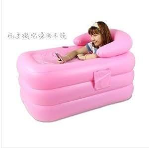adult spa pvc folding portable bathtub inflatable bath tub air pump soaking tubs. Black Bedroom Furniture Sets. Home Design Ideas