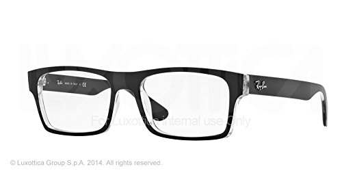 Ray Ban Rx7030 Eyeglasses-2034 Top Matte Black On Transparent-55Mm