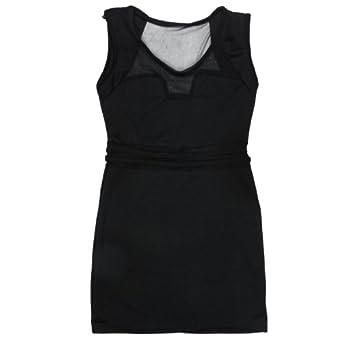 Kobwa(TM) Women Sexy See-through Sleeveless Party Dress Pencil Skirt