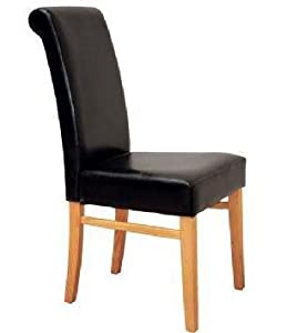 Faux Leather Black High Back Chair Alexander Dining Garden