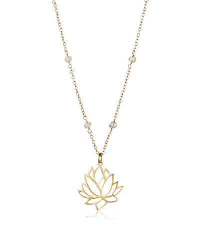 Argento Vivo Lotus Flower Pendant Necklace
