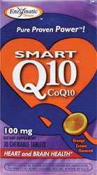 Enzymatic Therapy Coq10 100mg Orange Cream Chewable Tablets - 30 Ea