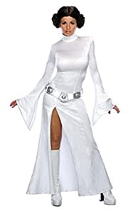 Secret Wishes Women's Sexy Princess Leia Costume, White, S (4/6)