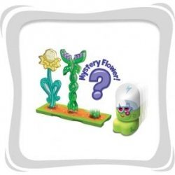 Moshi Monsters Bubble Bots Moshling Garden w/ Mystrery Flower (Green Figure)) - 1