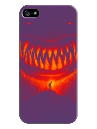 Youai Mouth Hard Back Shell Case / Cover For Iphone 5 And 5S - Purple