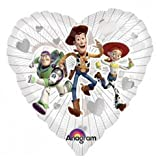 18 Inch Toy Story Clearly Love Clearly Metallic Balloon