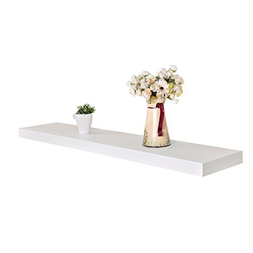 WELLAND® Chicago Floating Wall Shelves, 60 Inches, White
