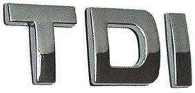 Auto chrom Heck Emblem Schriftzug Aufkleber TDI Turbodiesel