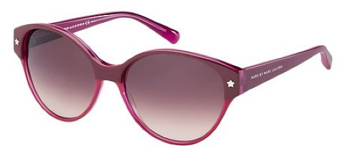 Marc By Marc Jacobs Marc By Marc Jacobs Women's 200 Bordeaux / Fuchsia Frame/Pink Gradient Lens Plastic Sunglasses