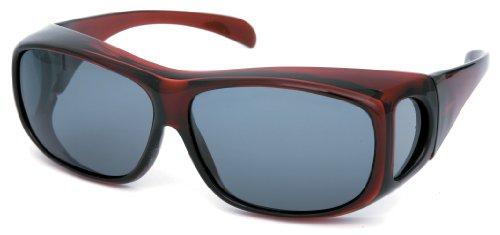 (コールマン)Coleman(コールマン) Coleman オーバーサングラス 偏光【メガネの上から掛けられます】 CO3012-3  クリアワイン FREE
