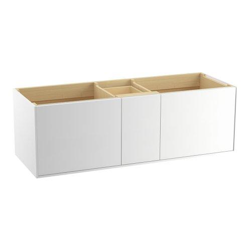 Kohler K-99548-1Wa Jute Vanity With 2 Doors And 1 Drawer, 60-Inch, Linen White front-598818
