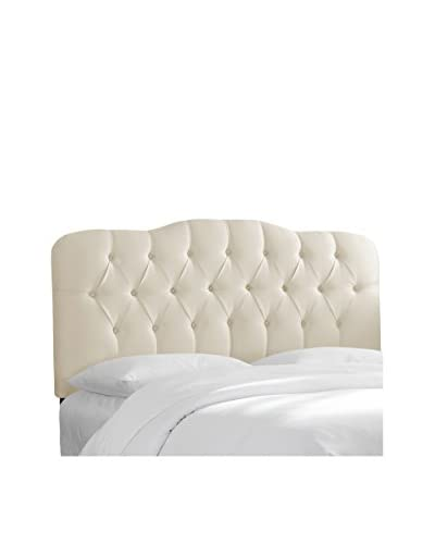 Skyline Furniture Tufted Queen Headboard, Shantung Parchment