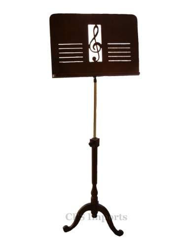 Deluxe Adjustable Wooden Music Stand in Walnut