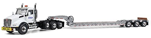 First Gear 1/50 scale Diecast Collectible Komatsu Kenworth T880 with Tri-Axle Lowboy Trailer (#50-3289A) (Diecast First Gear compare prices)