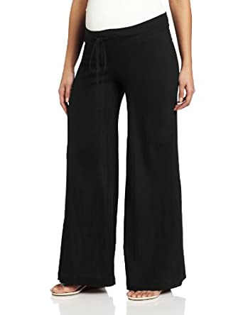NOM Women's Maternity Gigi Gauze Pants, Black, X-Small
