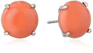 Fossil Peach Stud Earrings