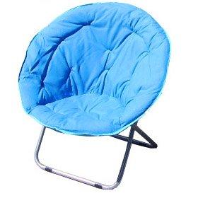 Folding Light Blue Papasan Dish Moon Sphere Chair Sports Fan F