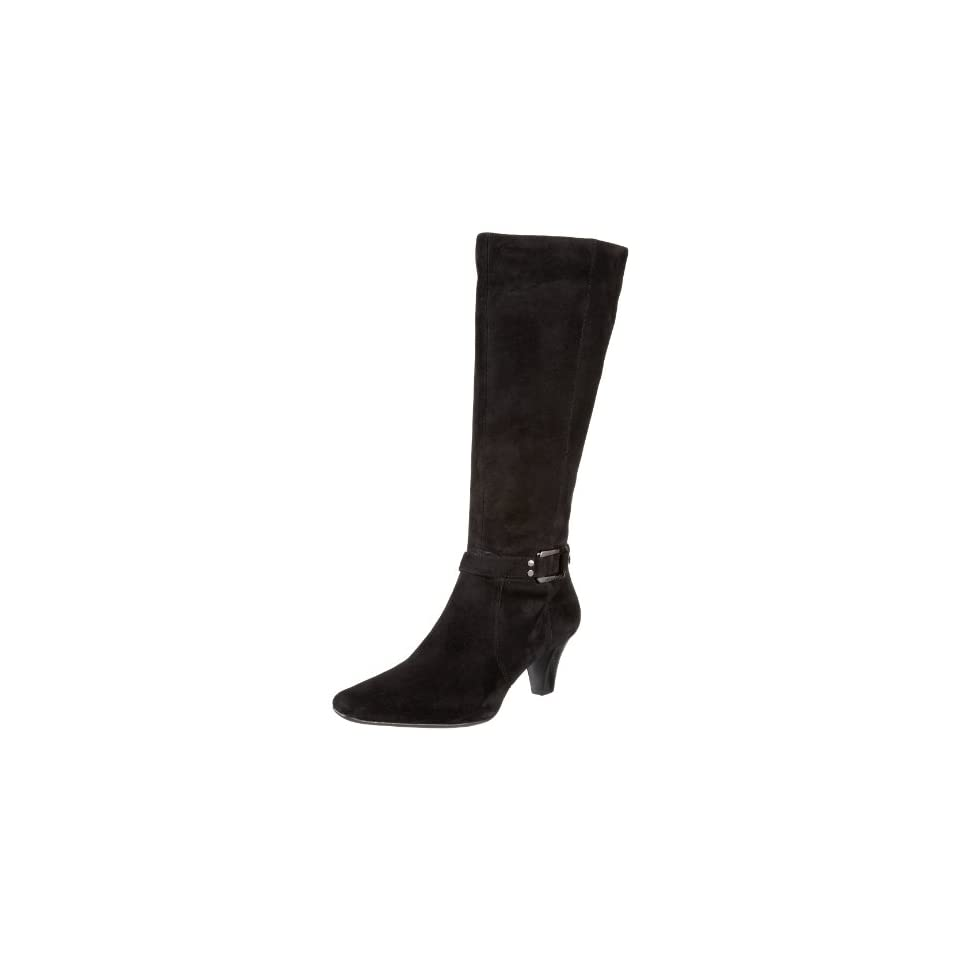 AK Anne Klein Womens Grenti Knee High Boot,Black Suede,9 M US