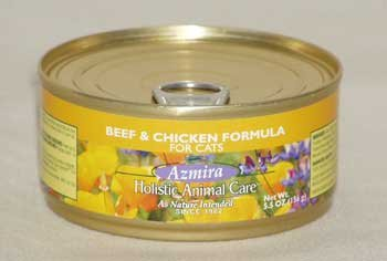 Premium Canned Cat Food : Beef & Chicken 5.5 Oz. Cans