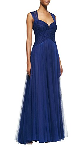 Dapene® Womens New Fashion Strap Sweetheart Backless Draped Formal Gown