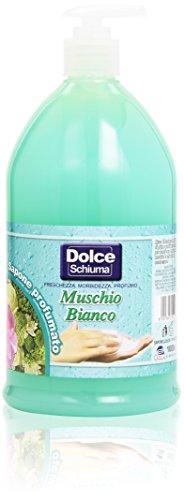 Dolce Schiuma - Muschio Bianco, Sapone Profumato Liquido, pH neutro - 1000 ml