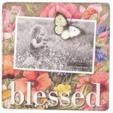Demdaco Nature\'s Journey Blessed Magnet Photo Holder with Butterfly Magnet