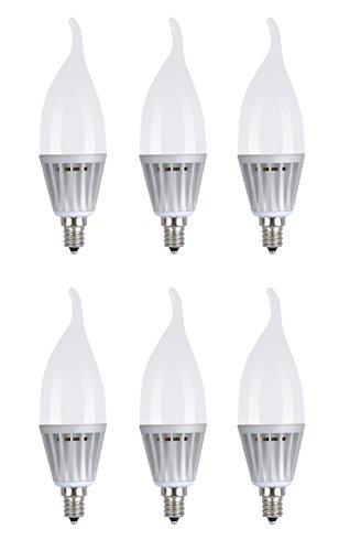6 pack sunthin 5w led candle bulb led candelabra light bulb e12 base fla. Black Bedroom Furniture Sets. Home Design Ideas