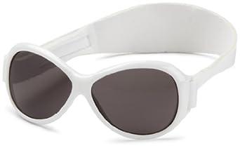 Baby Banz Retro Banz Oval Baby Sunglasses, Arctic White
