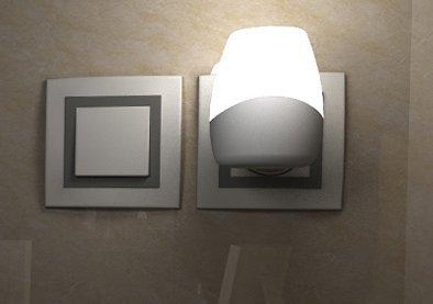 Yifom Creative plug-in testata luce di induzione di Controllo vocale e di luce di notte,BiancoRegali regalo di Natale di