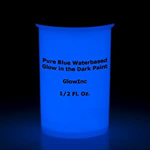 pure blue glow in the dark paint 1 2pint. Black Bedroom Furniture Sets. Home Design Ideas
