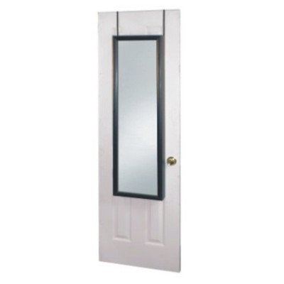 Over the door jewelry Armoire Mirror in Cherry