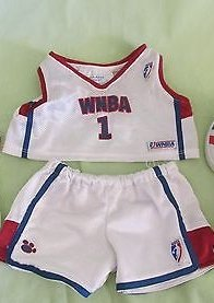 Build a Bear Clothing Red White Mesh Women Wnba NBA 1 Shorts and Shirt (Build A Bear Nba compare prices)