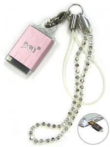 PQI 1gb Dangly USB drive memory PINK Ultra small and Lightweight