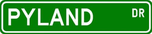 PYLAND Street Sign ~ Personalized Family Lastname Sign ~ Gameroom, Basement, Garage Sign Novelty** ALUMINUM - Buy PYLAND Street Sign ~ Personalized Family Lastname Sign ~ Gameroom, Basement, Garage Sign Novelty** ALUMINUM - Purchase PYLAND Street Sign ~ Personalized Family Lastname Sign ~ Gameroom, Basement, Garage Sign Novelty** ALUMINUM (The Lizton Sign Shop, Home & Garden,Categories,Patio Lawn & Garden,Outdoor Decor)