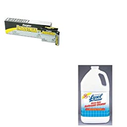 KITEVEEN91RAC94201EA - Value Kit - Professional LYSOL Brand Disinfectant Heavy-Duty Bath Cleaner (RAC94201EA) and Energizer Industrial Alkaline Batteries (EVEEN91)