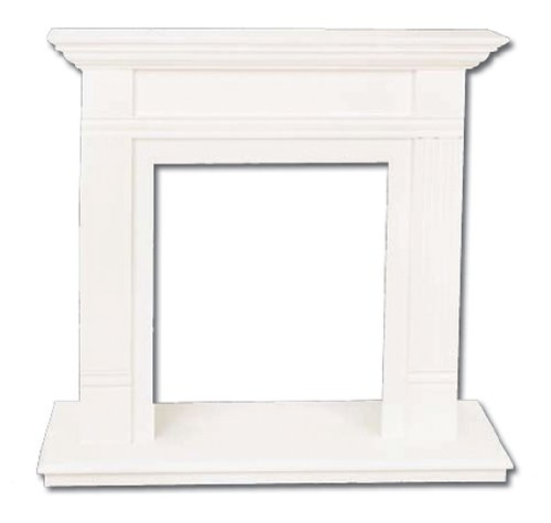 Comfort Flame W21Tp Wall Fireplace Mantel, Traditional Design, 21-Inch, White