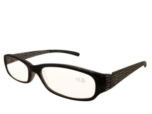 Nero Custodia occhiali da lettura, colorato, con dettagli 1,50-750