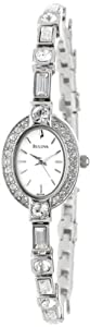 Bulova Women's 96T49 Crystal Pendant and Bracelet Set White Dial Watch