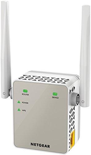 Netgear EX6120-100PES - Extensor de red WiFi AC1200 Dual Band (2,4 GHz y 5 GHz, antenas externas), blanco