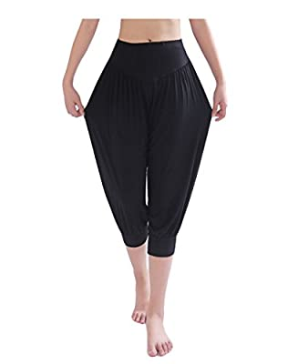 Busyfish Women's Yoga Herem Pants Belly Dance Fitness Workout Short Pants