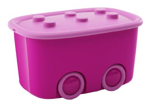 Kis 8630000028704scatola Funny Box, 46l, plastica, viola/rosa, 58x 38,5x 32cm