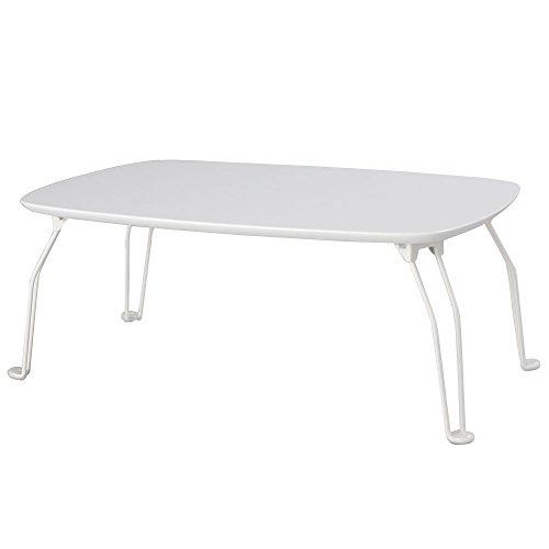 日本インテリア ぼん家具 鏡面 ローテーブル 折りたたみ 座卓 机 猫脚 ホワイト