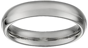 Women's 14k White Gold 4mm Comfort Fit Plain Wedding Band, Size 5.5