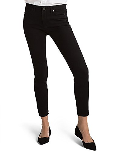 SPANX Women's Slim-X Ankle Jeans, Very Black, 26