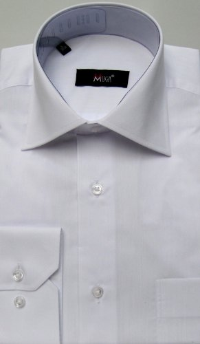 MUGA mens shirts for Casual and Formal, White, Size 5XL