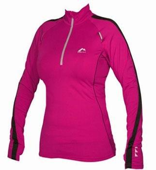 WOMANS Pink More Mile Long Sleeved Hi-Viz running top MM1304