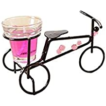 Vanshika House_Cycle Candle Stand With One Glass Candle Cum Home Decor ( Multty Couler )12 PS Combo