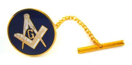 Brass & Purple Masonic Freemason Tie Pin Tack